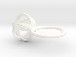 3D MINI STAR GLITZ SPARKLE RING - size 6 in White Processed Versatile Plastic