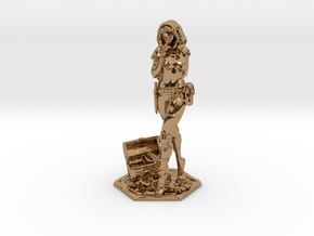 Female Thief 2inch in Polished Brass