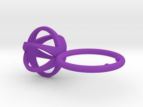 3D MINI STAR GLITZ SPARKLE RING - size 8 in Purple Processed Versatile Plastic