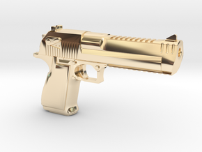 Desert Eagle Keychain in 14k Gold Plated Brass