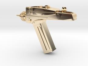 Star Trek Phaser Keychain in 14k Gold Plated Brass