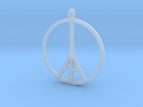 Paris Peace Pendant in Smooth Fine Detail Plastic