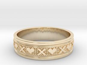 Size 9 Xoxo Ring B in 14K Yellow Gold