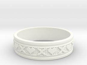 Size 9 Xoxo Ring B in White Processed Versatile Plastic