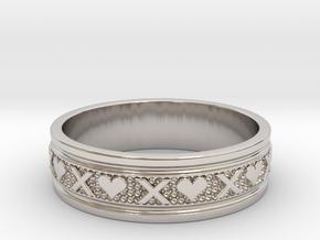 Size 13 Xoxo Ring B in Platinum