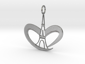 Love Paris - Eiffel Tower in Natural Silver