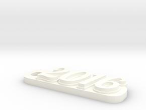2016 keychain in White Processed Versatile Plastic