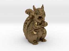 Guardian Squirrel in Polished Bronze