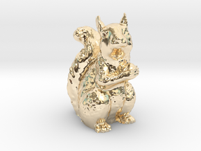 Guardian Squirrel in 14k Gold Plated Brass
