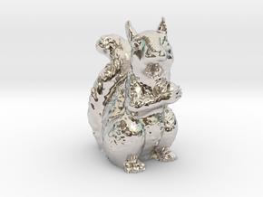 Guardian Squirrel in Rhodium Plated Brass