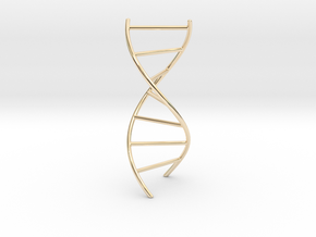 DNA Pendant in 14K Yellow Gold