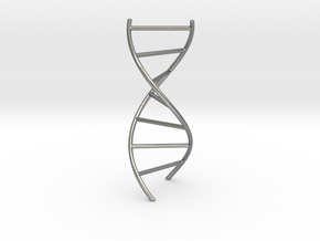DNA Pendant in Natural Silver