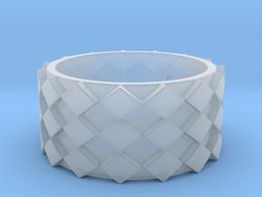 Futuristic Diamond Ring Size 7 in Smooth Fine Detail Plastic