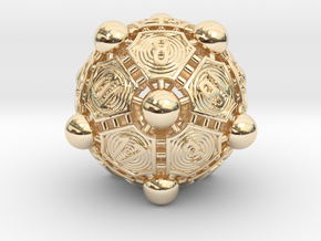 Nucleus D20 in 14k Gold Plated Brass
