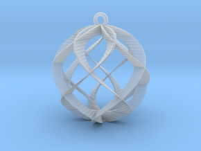 Spiral Sphere Ornament  in Smooth Fine Detail Plastic