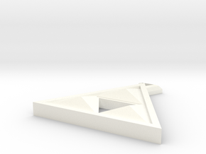 Fancy Triforce pendant  in White Processed Versatile Plastic