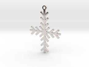 Winter Cross in Rhodium Plated Brass