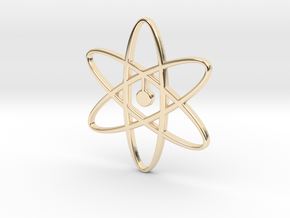 Atom Pendant in 14k Gold Plated Brass