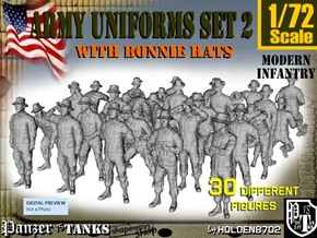 1-72 Army Modern Uniforms Set2 in Frosted Ultra Detail