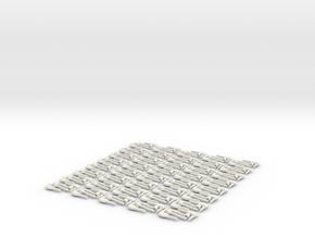 Latch Assem 80 1 in White Natural Versatile Plastic