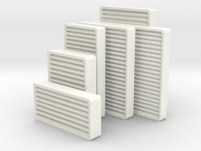 1/18 USN Ventholes in White Processed Versatile Plastic