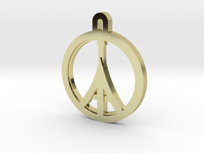 Paris Peace in 18k Gold Plated Brass