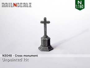 Cross memorial (N 1:160) in Smooth Fine Detail Plastic