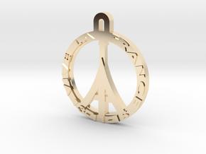 VIVE LA FRANCE in 14k Gold Plated Brass