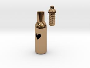 Message In A Bottle -Open Heart Version in Polished Brass