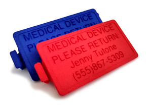 OmniPod PDM Personalized Battery Cover  in Blue Strong & Flexible Polished