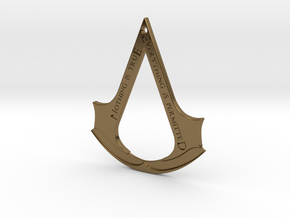 Assassin's creed logo-bottle opener (with hole) in Polished Bronze