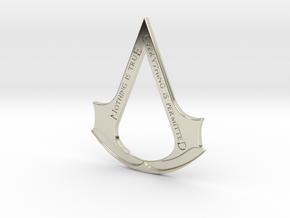 Assassin's creed logo-bottle opener  in 14k White Gold