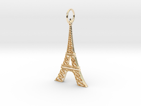 Eiffel Tower Earring Ornament in 14K Yellow Gold