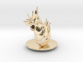 Gyarados  Pokemon in 14k Gold Plated Brass