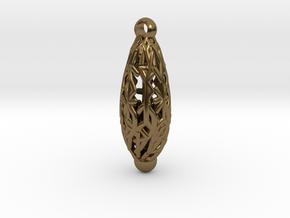 Radici, pendant in Polished Bronze
