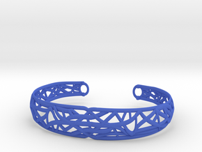 Radici Bracelet, Open M 60 mm in Blue Processed Versatile Plastic