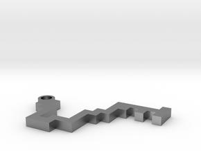 Maze Pendant 1 in Natural Silver