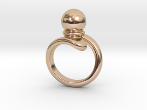 Fine Ring 24 - Italian Size 24 in 14k Rose Gold Plated Brass