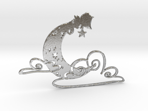 Luminous Dream 1 - 5cm Silhouette 2D in Natural Silver