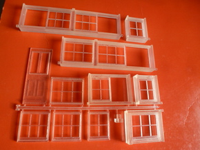 Chard Junction Signal Box Window Assembly in Smooth Fine Detail Plastic