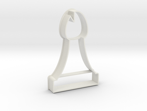 Cookie Cutter - Chess Piece Bishop in White Strong & Flexible