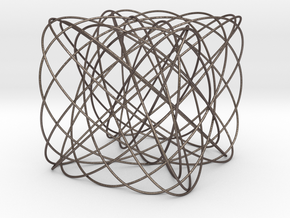 Lissajous Box in Polished Bronzed Silver Steel