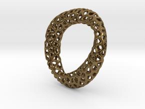Voronoi pendant mobius in Polished Bronze