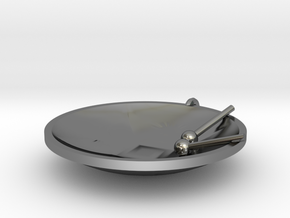 """Tenor Bass """"Surface"""" steelpan pendant, M in Fine Detail Polished Silver"""