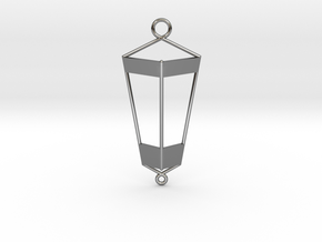 Lantern Pendant in Fine Detail Polished Silver