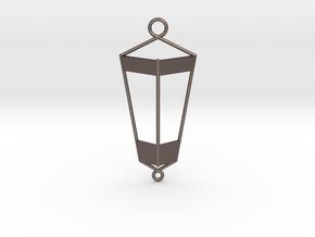 Lantern Pendant in Polished Bronzed Silver Steel