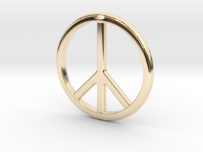 Peace Symbol in 14k Gold Plated Brass
