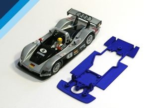 1/32 Carrera Audi R8R / Bentley Chassis in Blue Strong & Flexible Polished