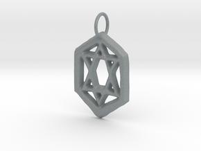 Jewish Star in Polished Metallic Plastic