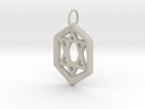 Jewish Star in Natural Sandstone